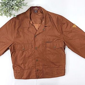 Vtg JORDACHE Rust Lined Snap Front Jacket SMALL
